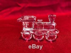 Swarovski Crystal Retired 6 Piece Locomotive Train Set with boxes