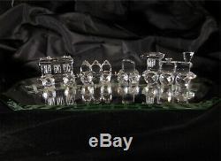Swarovski Crystal Vintage Train Set 4 piece with mirror base