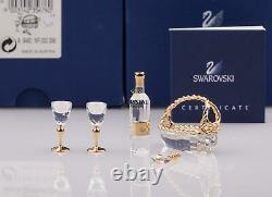Swarovski Figurines Crystal Memories -Wine Set 5 Pieces Gold 235676
