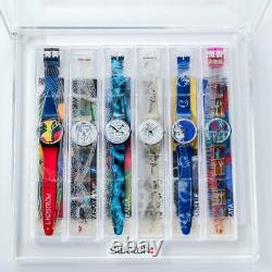 Swatch 1995 Artist Collection 6-piece set Limited Edition Watch withPoster