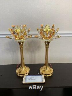 Taiwan Crystal Lotus Lamp (2 Pieces)