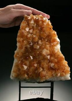 This Brazilian citrine cluster display piece has large crystals and good clarity
