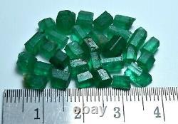 Transparent Natural Green Color Rough Emerald Crystal Lot (30 Pieces)20.40 Crat