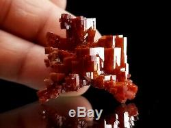 Unique Piece Cherry Red Vanadinite Twinned Floater Crystal #5