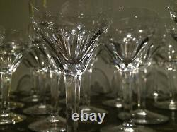 Vintage 1930's European Stemware Crystal Set 46 pieces