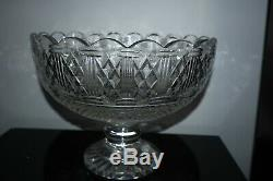 WATERFORD CRYSTAL ARCHIVE CENTRE Piece LARGE BOWL 11 COLLECTIBLE CLASSY