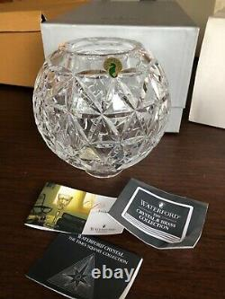 WATERFORD crystal Times Square Star of Hope 2000 hurricane 2 piece lamp candle
