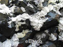 WHITE BARITES on BLACK SPHALERITES CRYSTALS from PERU. VERY ELEGANT PIECE