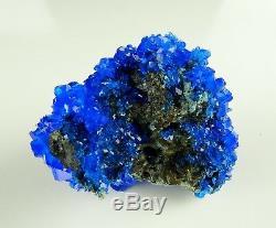 WHOLESALE BOX with CHALCANTHITE 54 PIECES ELECTRIC BLUE alunite, alum flat
