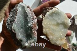 WHOLESALE Druzy Quartz over Mixed Minerals from Congo 3 kg 24 pieces # 4307
