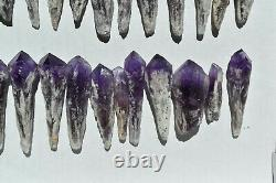 WHOLESALE Laser Amethyst Crystals from Bahia, Brazil 34 pieces 1 kg # 4469