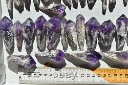 WHOLESALE Laser Amethyst Crystals from Bahia, Brazil 49 pieces 1 kg # 4387