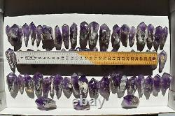 WHOLESALE Laser Amethyst Crystals from Bahia, Brazil 60 pieces 1 kg # 4082