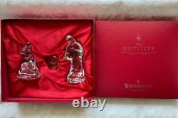 Waterford Contemporary Nativity 3 Piece Crystal Set, New in box & Sleeve IRELAND