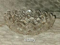 Waterford Signed Crystal Chandelier Adare Replacement 2 Piece Bobeche with 8 Prism
