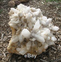White Quartz Natural Crystal Points Display Specimen Huge Piece 86 Lbs 18