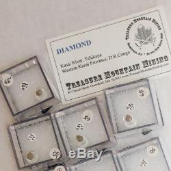 Wholesale Flat 10pieces Real Uncut DIAMOND CRYSTALS to1.3ct Congo @$50 for sale