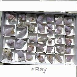 Wholesale Flat of Cactus Spirit Quartz 35 pieces ccflat10 shades of amethyst