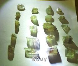 Wholesale Lot, Color Change Diaspore Crystals, 20 Pieces 163 Crt, 100% Natural
