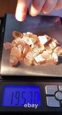 Wholesale Lot, Color Change Diaspore Crystals, 25 Pieces 196 Crt, 100% Natural