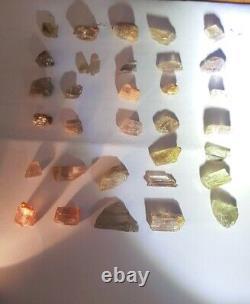 Wholesale Lot, Color Change Diaspore Crystals, 37 Pieces 187 Crt, 100% Natural