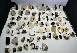 Wholesale small sized staknala tourmaline specimens lot 64 pieces 850 grams