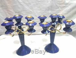 Wow Beautiful Lapis Lazuli Candlesticks 2 Pieces