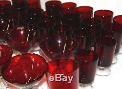 X 31 pieces Ruby red glass ruby glass red crystal glasses red glass red crystal