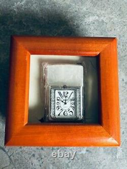 Zippo 2005 3D Time Lite with Swarovski Crystal Stripes (Mega Rare Piece)