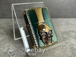 Zippo 3D Hammered Crystal Skull Lighter Stunning Piece