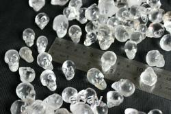 100 Pièces Clair Minuscule Naturel Quartz Crânes De Cristal Sculpté À La Main De La Chine