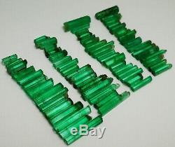 109.90 Ct Top Emerald 100% Cristaux Terminés Lot 77 Pièces De Panjshir, Afgha