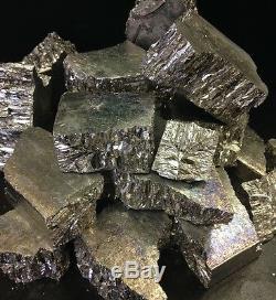 10 KG (22,2 Lbs) Bismuth Métalliques 99,99% Chunks Pures Et De Croissance De Cristaux Pieces