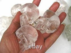 10 Pièces Aa Sculpté Naturel Guérison Du Crâne De Cristal Clair