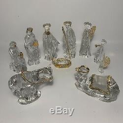 10 Pièces Set Gorham Cristal Nativité Fabriqué En Allemagne