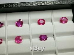 11,80 Carat Top Qualité Ruby Coupe 7 Pièces De Afrique