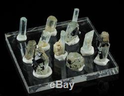 11 Piece Aigue-marine Crystal Colis De Erongo, Namibie 7075