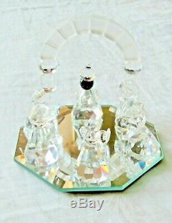 11 Piece Set Cristal Swarovski Scène De La Nativité Avec Miroir Plaque Rmc