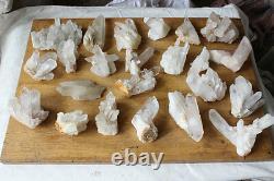 11lb 23 Pieces Natural Clear Quartz Crystal Cluster Points Whalesales Prix
