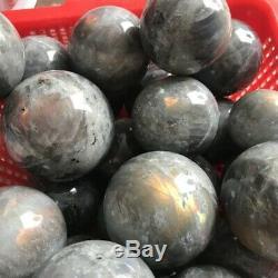 11lb Labradorite Naturelle Cristal Sphère Quartz Boule Poli Roche 8-10 Pièce