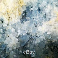 12.2lb Naturel Célestite Geode Quartz Affichage Des Échantillons Pièces De Guérison