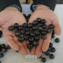 130 Pièces 1kg Yeux De Tigre Bleu Naturel Quartz Cristal Sphere Ball Guérison 16-18mm