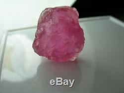 13.75ct Californie Rose Tourmaline Gemmy Rugueux Cabine Cristal Cali Seule Pièce