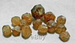 14 Pièces Loliondo Spessartite Orange Garnet 15g Lot De Tanzanie, Afrique 9198