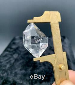 15,79 G Enhydro Herkimer Diamant Gem, Incroyable Eau Claire Pièces Avec Le Transport Du Gaz