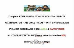 15 Piece Kyber Crystal Set Avec Tous Les Caractères Couleurs 8 Scripts Voix Chaque Magic 8