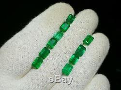 16 Carat Top Qualité 100% Naturel Emerald Facet 10 Pièces De La Zambie