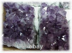 17,5 Livres 5 Gros Morceaux / Retale Flat Amethyst Crystal Geode Lot