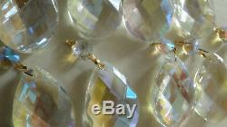 17 Pièces Aurora Borealis Cristal + 20 Pieds De Cristal All For Lustre