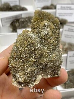 18 Pièces En Gros Plat De Haute Qualité Pétillant Ny Herkimer Diamond Druzy